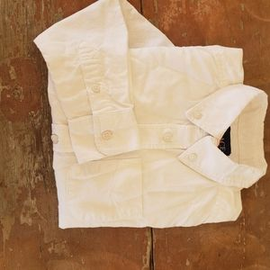 Kids Long-sleeved white button up S 5/6 shirt